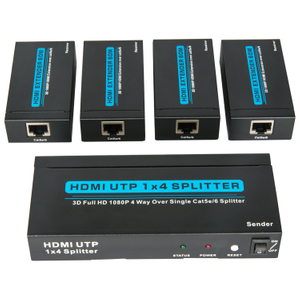 HDMI1.3V 1x4 60M UTP Splitter(3D Full HD 1080P)