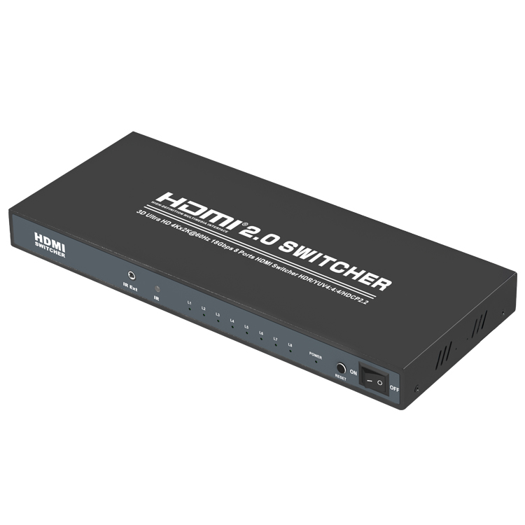 HDMI2.0V 8x1 Switcher(3D Ultra HD 4Kx2K@60Hz)